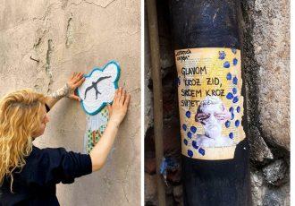 antonella šantek, lutajuća knjiga, ulična umjetnost
