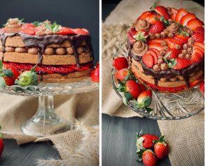 torta od jagoda, recepti, jagode, jagode i čokolada